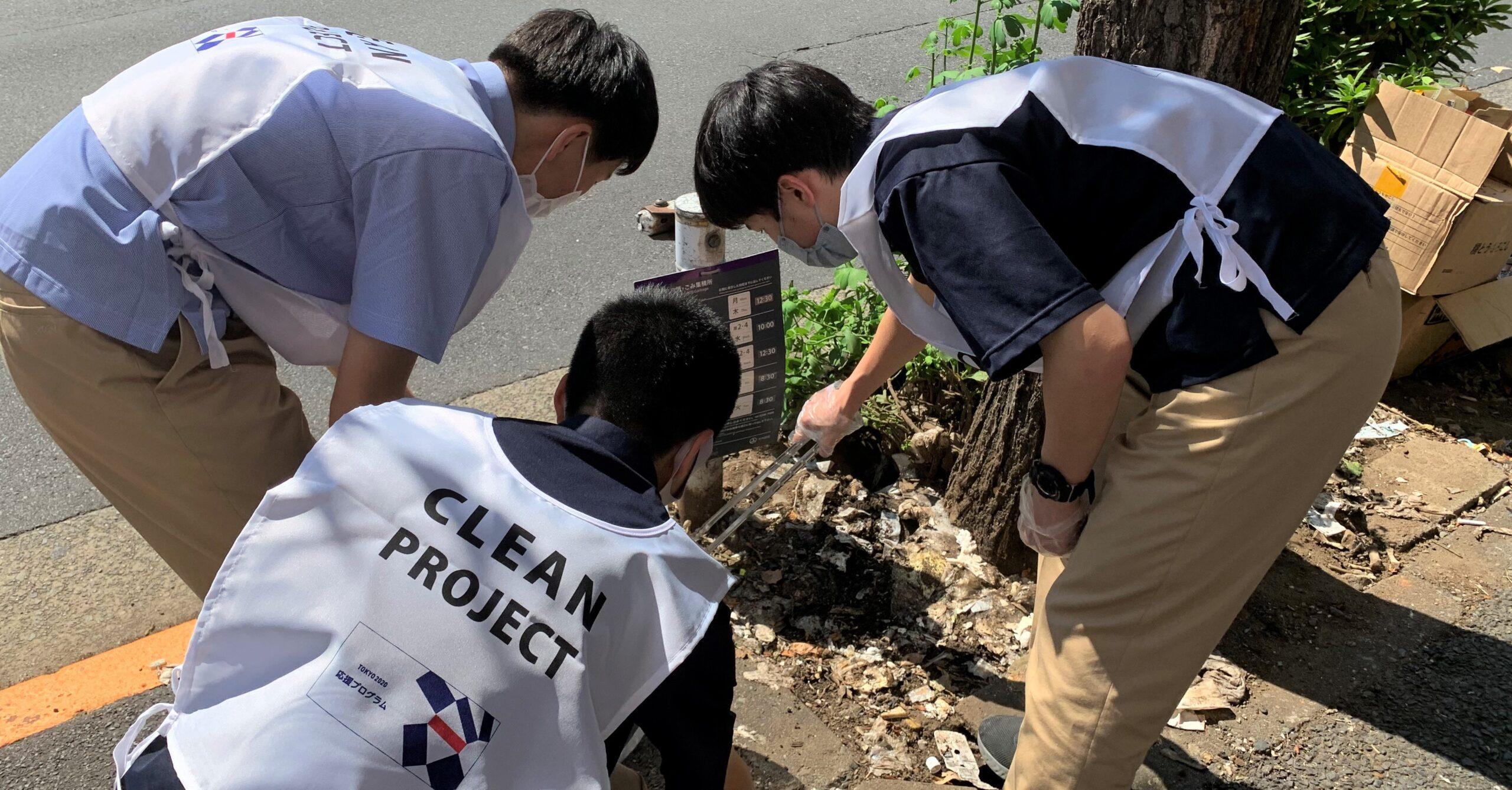 青年赤十字クリーンアップ活動